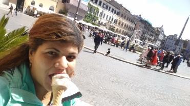 Primeiro gelatto em Roma