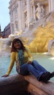 Mais uma vez na Fontana - era o meu maior sonho em Roma.