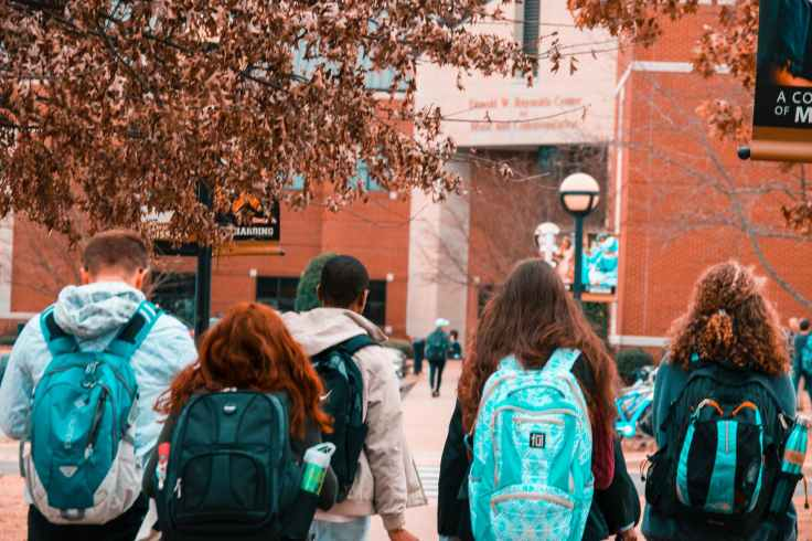 backpack college college students study